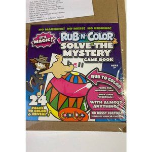 Rub n color solve the mystery game book